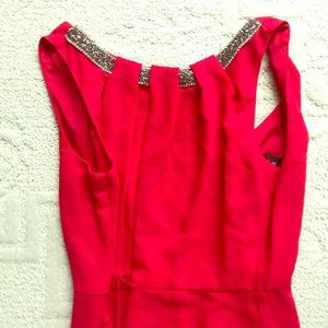 Dresses & Skirts - Red dress w bedazzled neckline